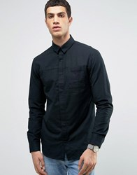 Jack And Jones Core Shirt With Concealed Placket In Regular Fit Black