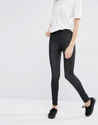 Dr. Denim Dr High Waist Eco Skinny Jeans Organic Dank Black A Blue