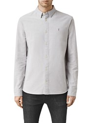 Allsaints Hungtingdon Slim Fit Shirt Dark Gull Grey