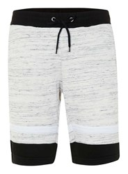 Topman Antioch Black And Off White Stripe Space Dye Shorts Cream