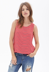 Forever 21 Nautical Striped Woven Tank