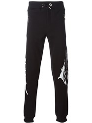 Philipp Plein Black Roar Track Pants
