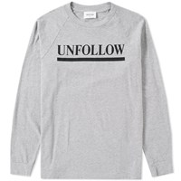Wood Wood Long Sleeve Han Unfollow Tee Grey