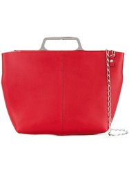 Maison Martin Margiela Mm6 Chain Crossbody Bag Red