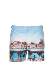 Orlebar Brown Bulldog Swimming Around Print Swim Shorts Multi