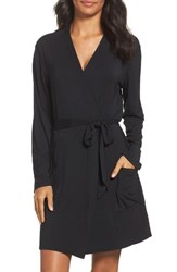 Naked Women's Short Robe Black