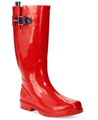 Nautica Finsburt Tall Rain Boots Women's Shoes Red