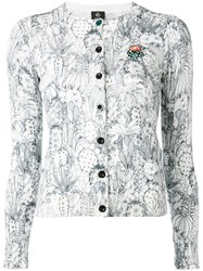 Paul Smith Ps By Cactus Sketch Print Cardigan White
