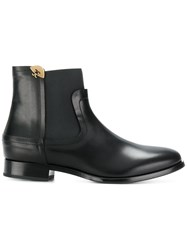 Fabi Elasticated Ankle Boots Calf Leather Leather Rubber Black