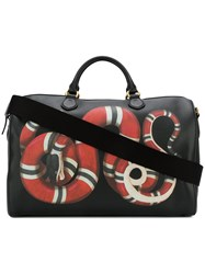 Gucci Kingsnake Print Duffle Bag Black