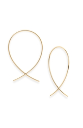Lana 'Upside Down' Small Hoop Earrings Yellow Gold