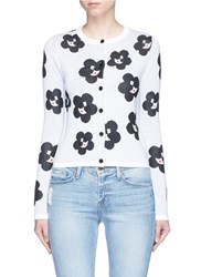 Alice Olivia 'Ruthy' Floral Stace Face Cardigan Multi Colour