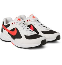 Nike Air Icarus Suede Mesh And Leather Sneakers White