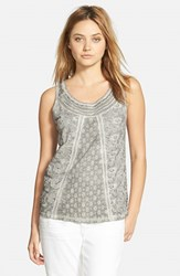 Women's Hinge Lace Inset Tank Grey Frost