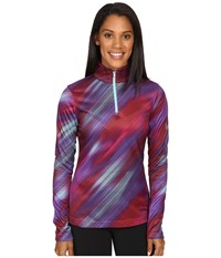 Spyder Collection T Neck Top Geo Rays Voila Print Women's Long Sleeve Pullover Pink