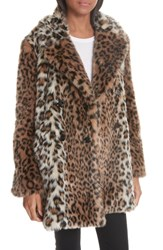 Joie Tiaret Faux Fur Jacket Old Oak