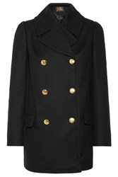 Vivienne Westwood Anglomania Mosto Double Breasted Melton Wool Coat Black
