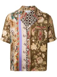 Pierre Louis Mascia Mixed Print Silk Shirt 60