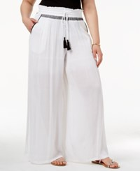 Ny Collection Plus Size Palazzo Pants White Metaldust