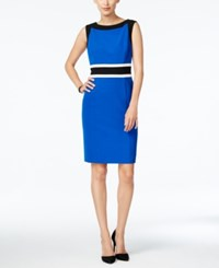 Nine West The Essential Colorblocked Sheath Dress Blue