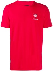 Plein Sport Logo Short Sleeve T Shirt Red