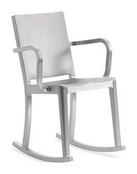 Emeco Hudson Rocking Chair With Arms Gray