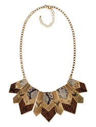 Chesca Snake Print Necklace