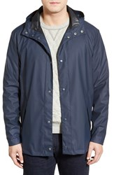 Men's Cole Haan Rubberized Raincoat Navy