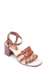 Bernardo Women's Footwear Santina Ankle Strap Sandal Luggage Leather
