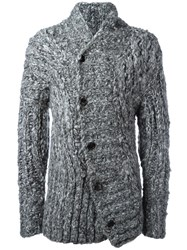 Ann Demeulemeester Button Up Knitted Cardigan Grey