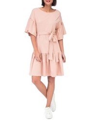 B Collection By Bobeau Angel Washed Cotton Knee Length Dress Desert Sand