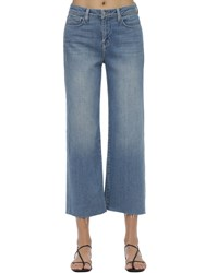 L'agence Daninca Cropped Wide Leg Jeans Light Blue