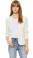 Atm Anthony Thomas Melillo Stripe Schoolboy Blazer White Stripe