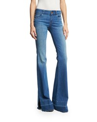 J Brand Love Story Flare Leg Side Slit Jeans With Released Hem Angelic Indigo