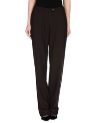 Caractere Casual Pants Dark Brown