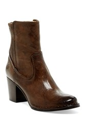 Frye Lucinda Scrunch Short Boot Brown