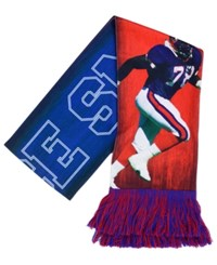 Forever Collectibles Bruce Smith Buffalo Bills Sublimated Player Scarf Blue Red