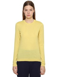 Ralph Lauren Pure Cashmere Knit Crewneck Sweater Yellow