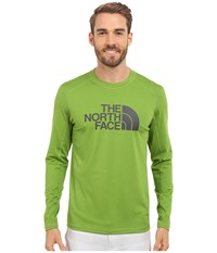 The North Face Long Sleeve Sink Or Swim Rashguard Vibrant Green Asphalt Grey Men's Swimwear