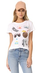 Wildfox Couture Tanning Essentials Tee Clean White
