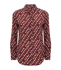 Sandro Aline Star Print Shirt Female Red