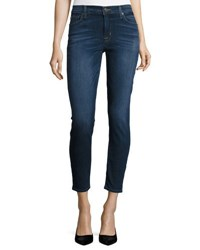 Hudson Nico Mid Rise Ankle Skinny Jeans Dark Blue