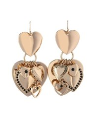 Bcbgeneration Queen Of Hearts Crystal Multi Heart Earrings Gold