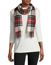 Lord And Taylor Tartan Scarf Red