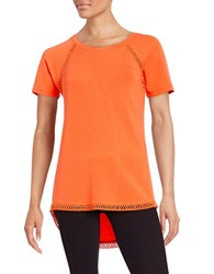 Context Crochet Trimmed Tee Sterling Orange