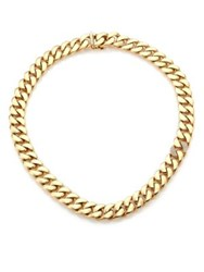 Roberto Coin Gourmette Diamond And 18K Yellow Gold Chain Necklace