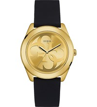 Guess W0911l3 G Twist Gold Plated And Silicone Watch