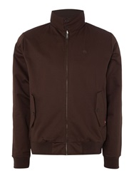 Merc Casual Full Zip Harrington Jacket Brown