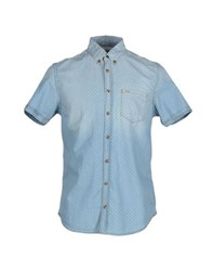 Sun 68 Denim Denim Shirts Men