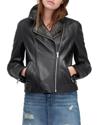 Ugg Andee Leather And Shearling Cycle Jacket Black